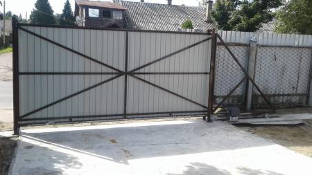 Ворота откатные 3*2 под профлист/штакетник