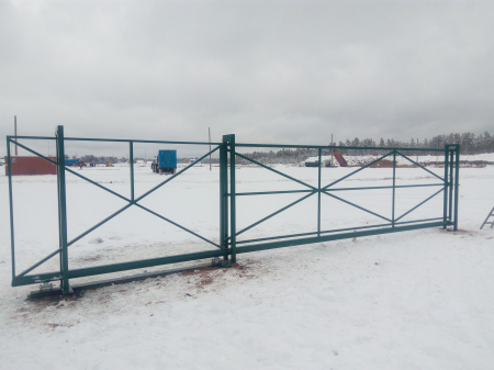 Ворота откатные 5,5*2 под профлист/штакетник