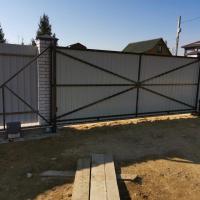 Ворота откатные 5*2 под профлист/штакетник